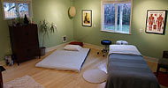 LMT home massage studio space.