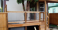 Deck, handrail and deck cover