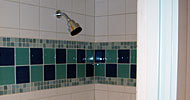 Custom tile shower surround
